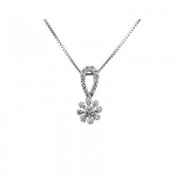 308753c33b7 Estate 18 Karat white gold and diamond pendant on a 18