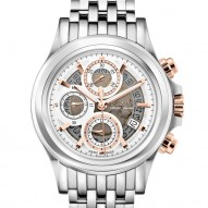 gentleman Bulova Accutron Stainless Steel Swiss Chronograph watch