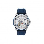 Bulova Stainless Steel Marine Star Blue Watch