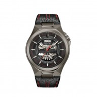 Bulova Stainless Steel and Black Mequina Watch