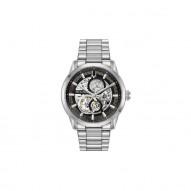 Bulova Stainless Steel Gray Skeleton Sutton Watch