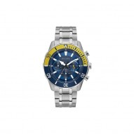 Bulova Stainless Steel Blue Dial Chronograph Watch