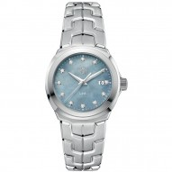 Link Mother of Pearl Diamond Dial Ladies Watch