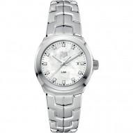 Link Mother of Pearl Diamond Dial Ladies Watch