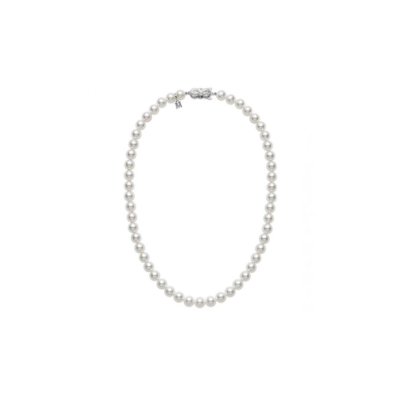 Mikimoto cultured A-1 quality pearl necklace 18 inches long.