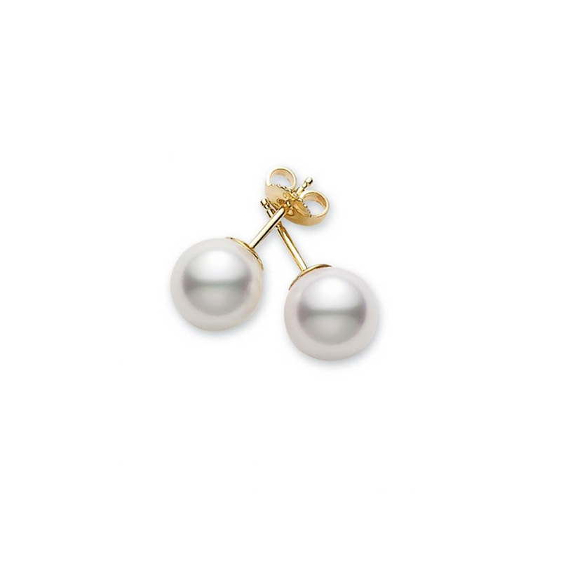Mikimoto Lady's Cultured Pear Stud Earrings