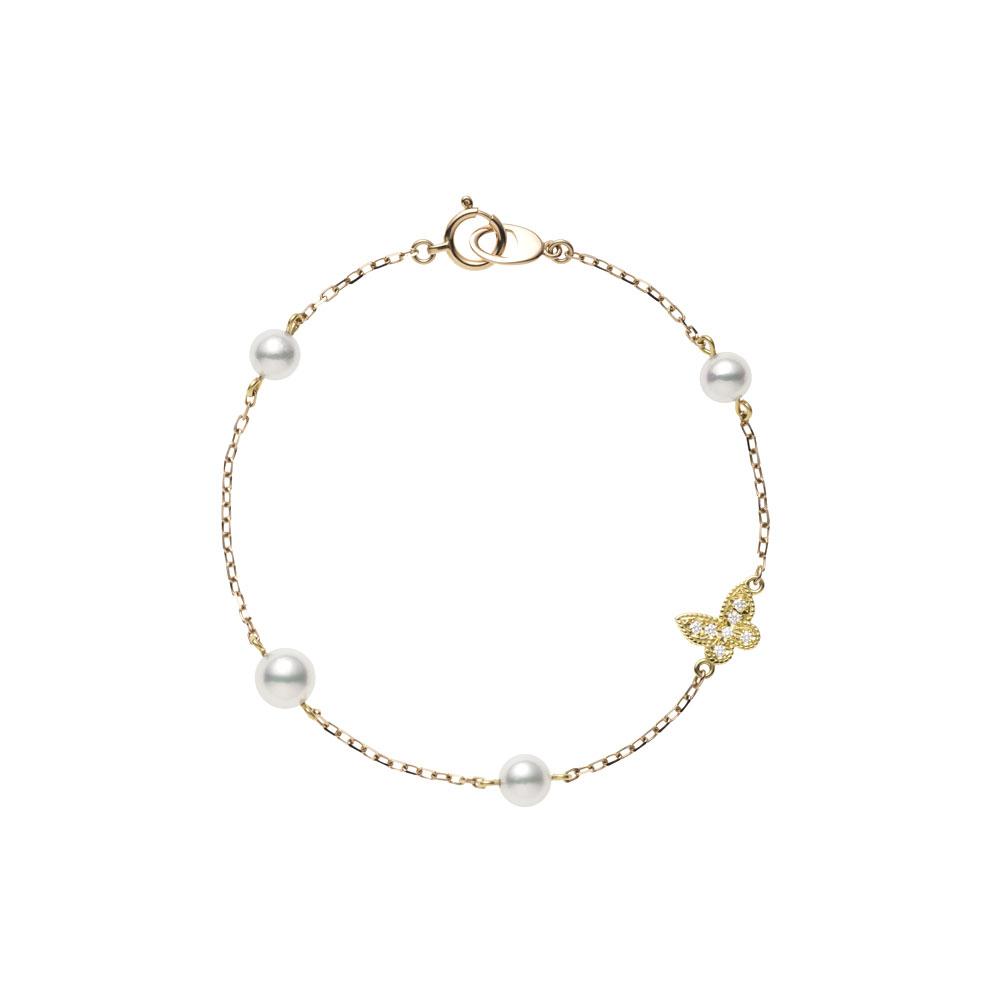 Mikimoto 18 Karat Yellow and Rose Gold Bracelet