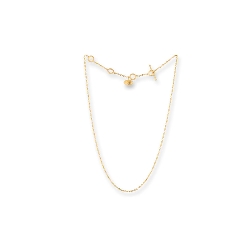 Lika Behar 24 Karat yellow gold rolo thin chain 18