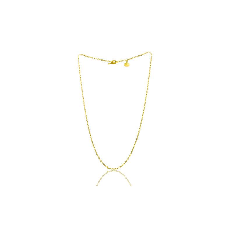Lika Behar 24 Karat yellow gold rolo thin chain 20