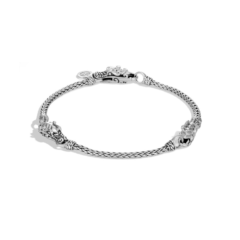 John Hardy Legends Naga Silver Triple Station Bracelet