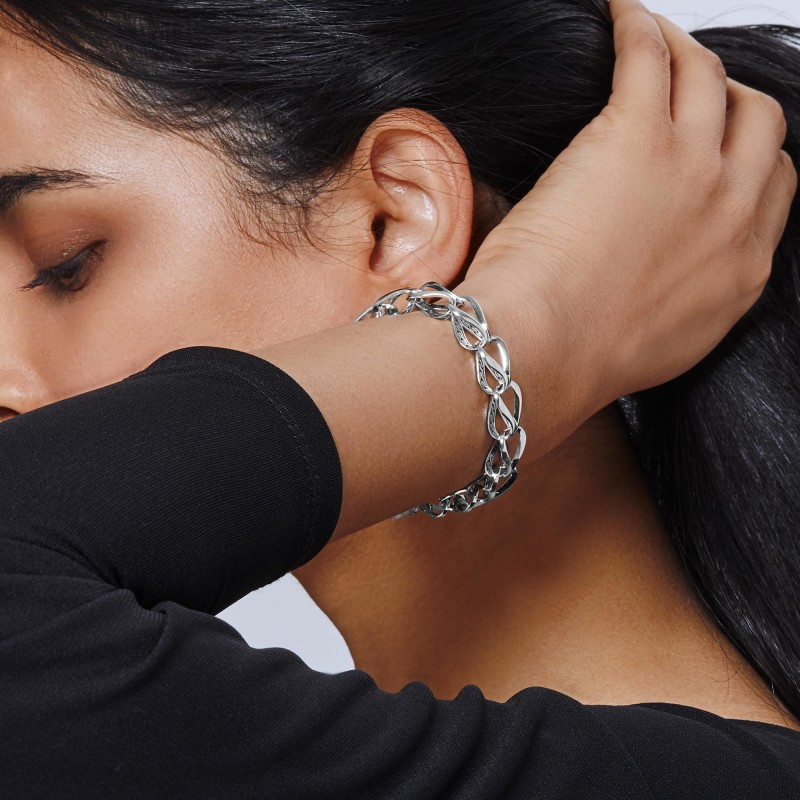 John Hardy Asli Classic Chain Link Silver Link Bracelet
