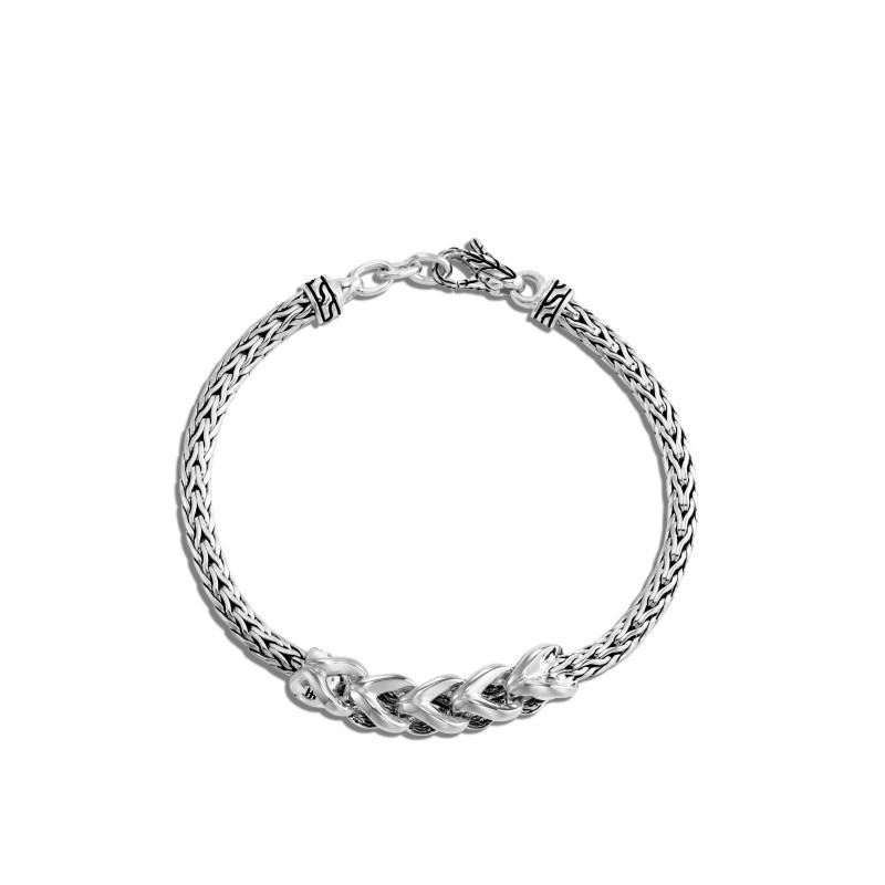 John Hardy Asli Classic Chain Link Silver Slim Chain Bracelet