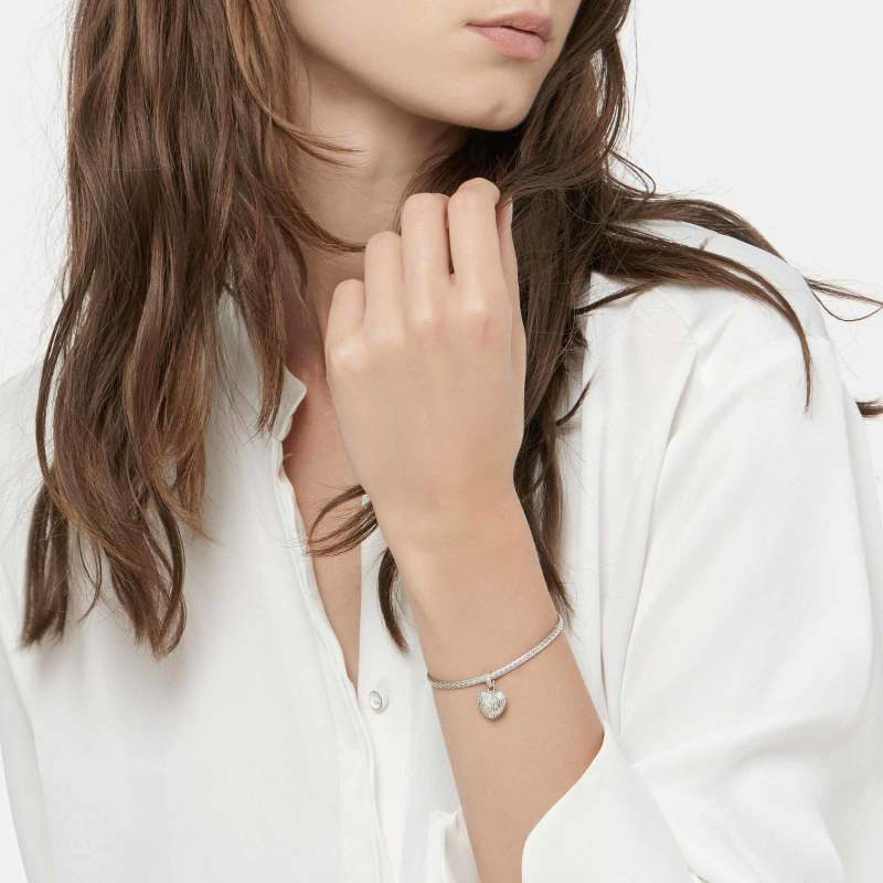 John Hardy Classic Chain Heart Charm Mini Chain Bracelet