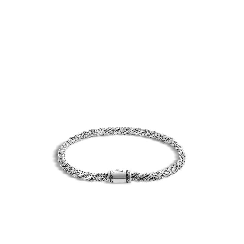 John Hardy Classic Chain Slim Flat Twisted Chain Bracelet