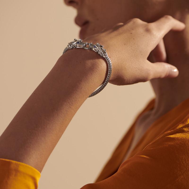 John Hardy Naga Bracelet with Blue Sapphire