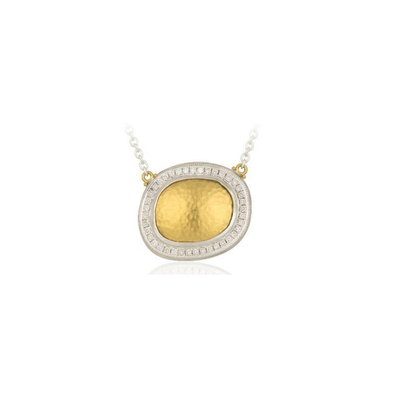 """Lika Behar Two-Metal Diamond """"Reflections"""" Collection Necklace"""