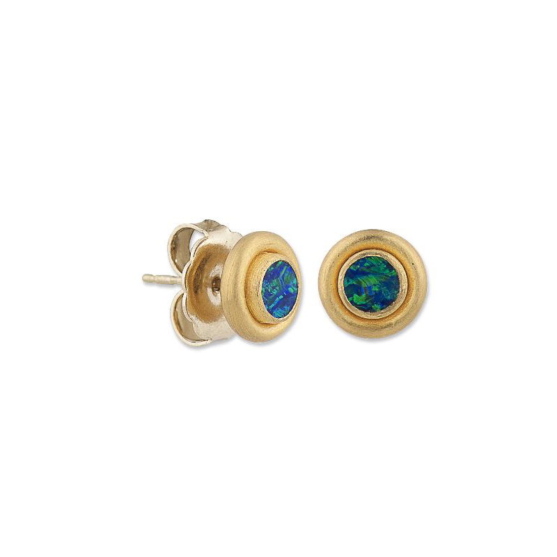 "Lika Behar 24 Karat Yellow Gold Opal Dublet ""Sloane"" Collection Earrings"