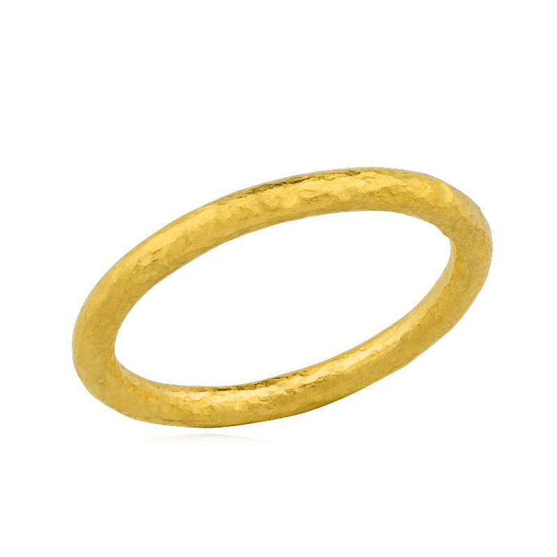 "Lika Behar 24 Karat Yellow Gold ""Hammered"" Collection Band"