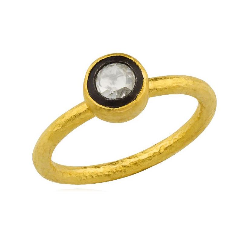 Lika Behar Two-Metal Diamond Solitaire Ring