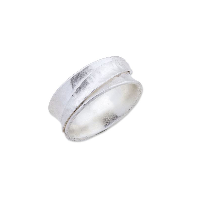 "Lika Behar Sterling Silver Hammered ""Inversion"" Collection Ring"
