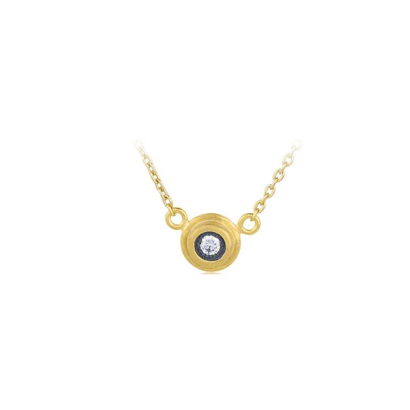"Lika Behar Two-Metal Diamond ""Krista"" Collection Station Necklace"