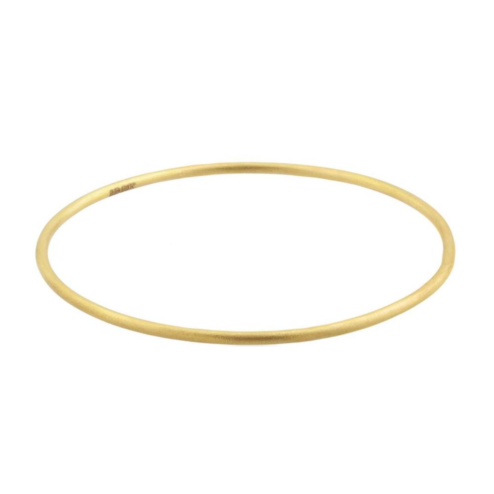 Lika Behar 24 Karat Yellow Gold Thin Hammered Bangle