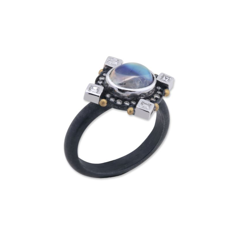 "Lika Behar ""Moondance"" Diamond and Moonstone Ring"