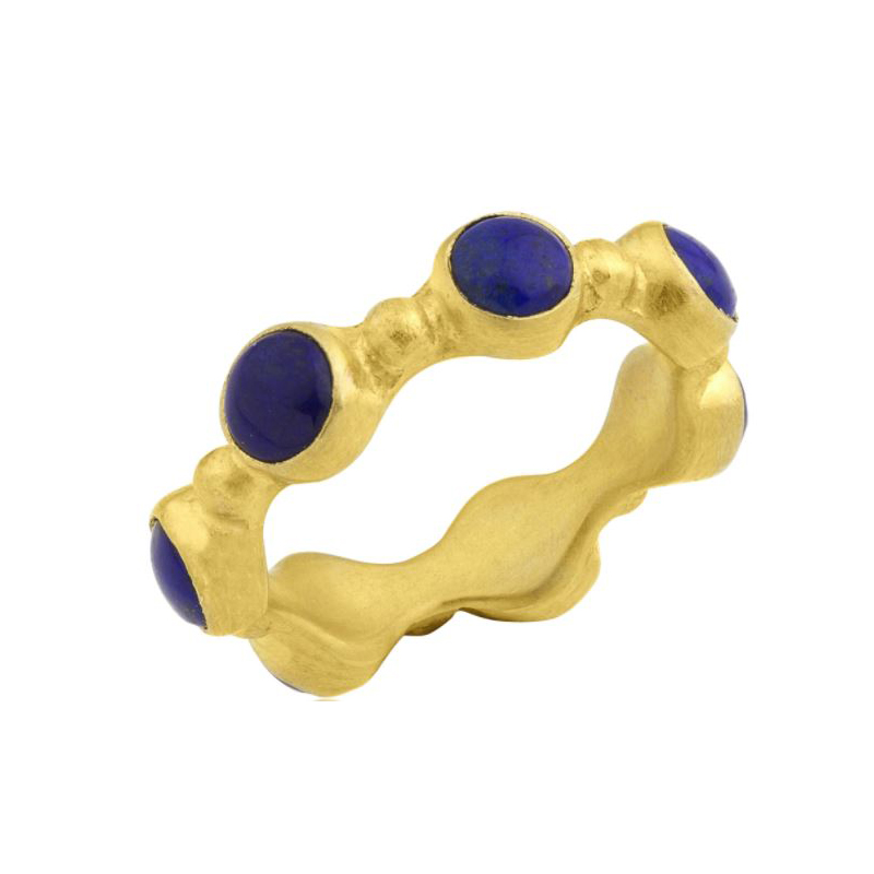 Lika Behar 22 Karat Yellow Gold Cabochon Lapis Ring
