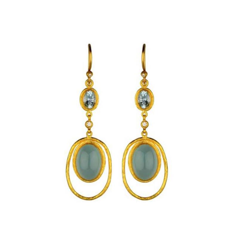 """Lika Behar """"Florence"""" Diamond Dangle Earrings"""
