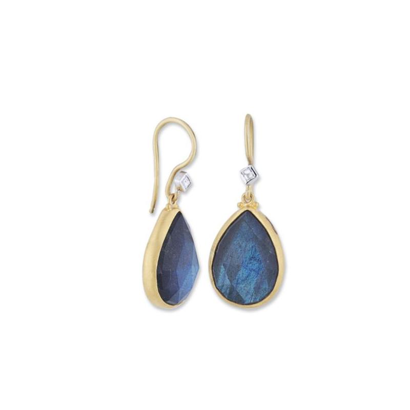 "Lika Behar ""Deck"" Labradorite and Diamond Earrings"