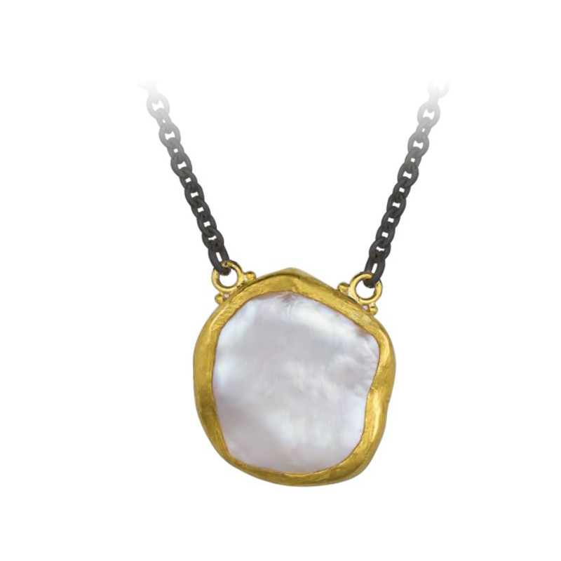 "Lika Behar ""Rosalie"" Pearl Station Necklace"