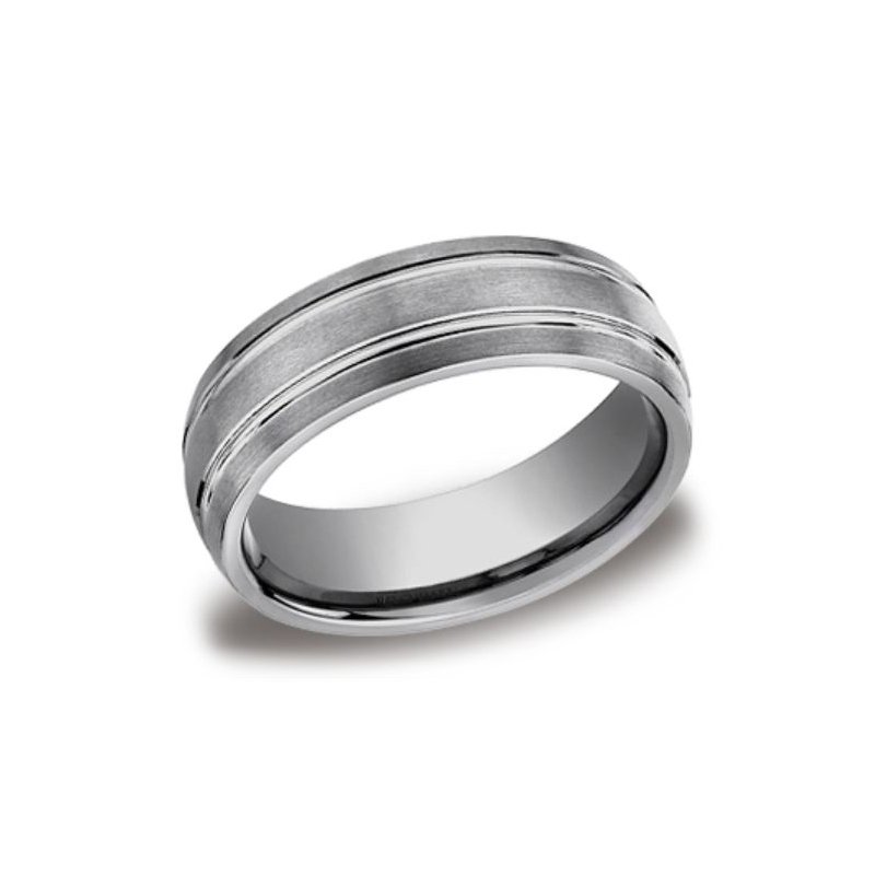 Benchmark Forge Tungsten Chrome 7mm Comfort Fit Band