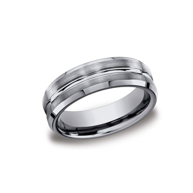 Benchmark Tungsten Design 7mm Comfort Fit Band