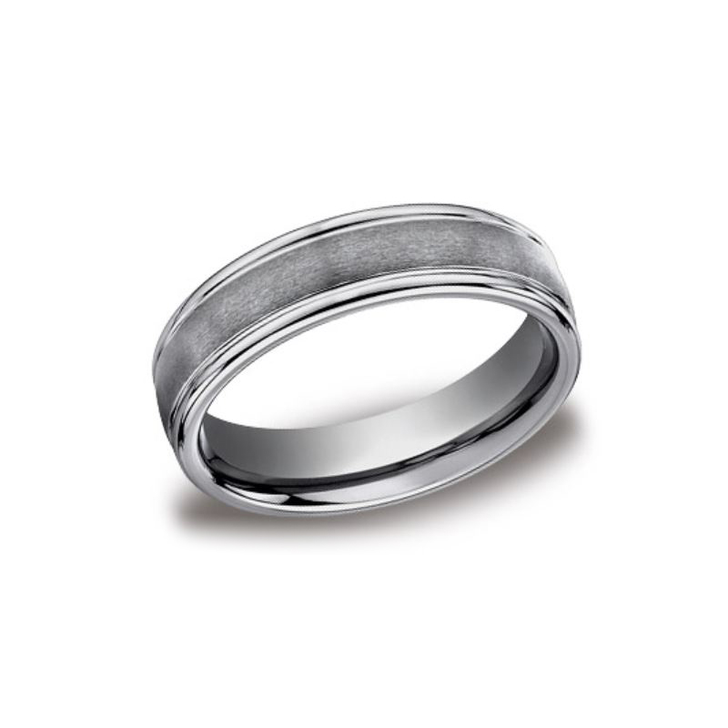 Benchmark Tungsten Design 6mm Comfort Fit Band
