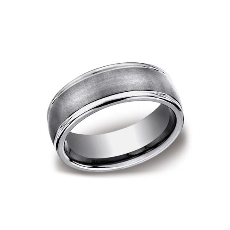 Benchmark Tungsten Design 8mm Comfort Fit Band
