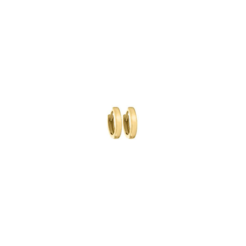 14 Karat Yellow Gold Plain Huggie Earrings