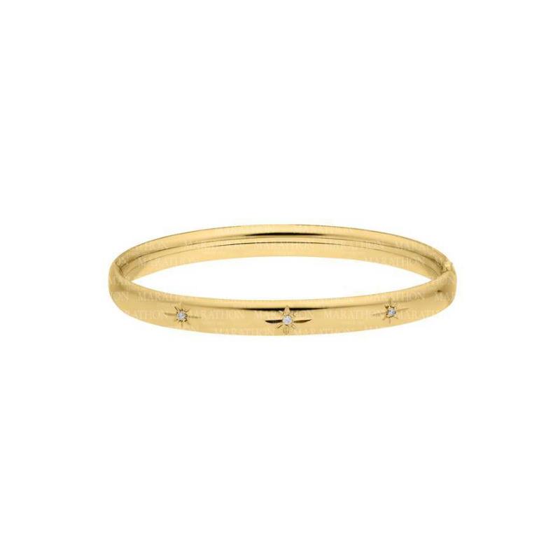 14 Karat Yellow Gold Filled 6mm Starcut Diamond Bracelet