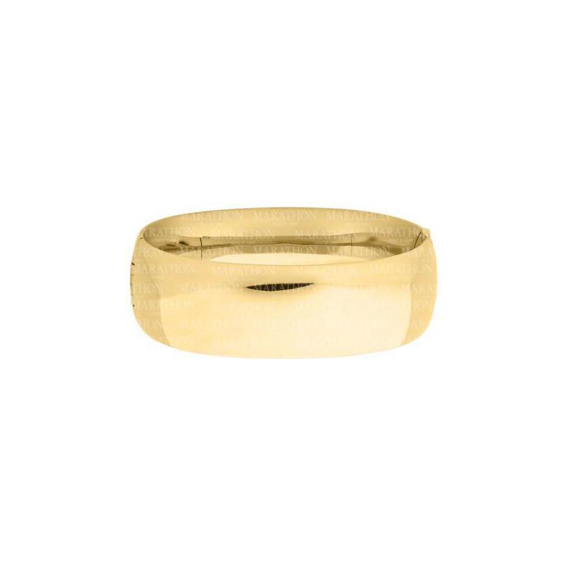 14 Karat Yellow Gold Filled 21mm Bangle Bracelet