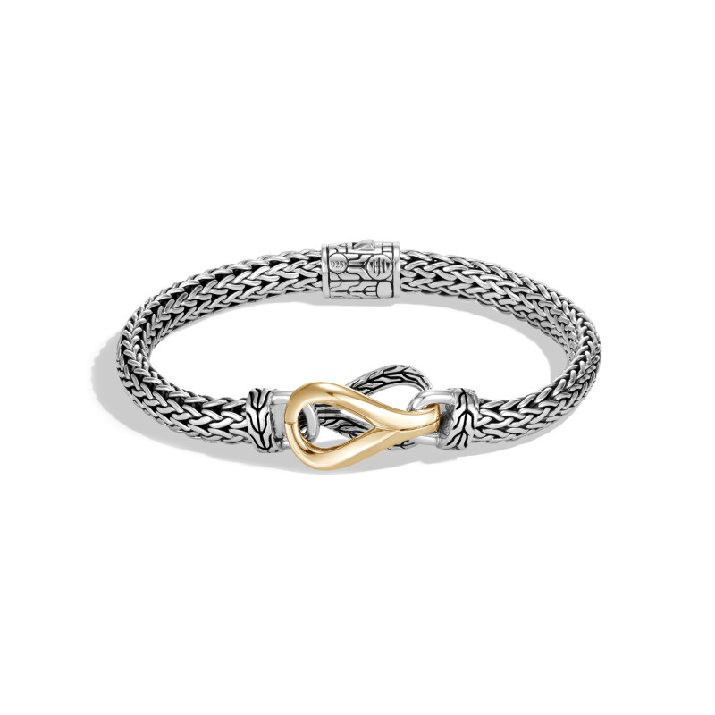 John Hardy Asli Classic Chain Link 18 Karat Yellow Gold and Silver Small Chain Bracelet