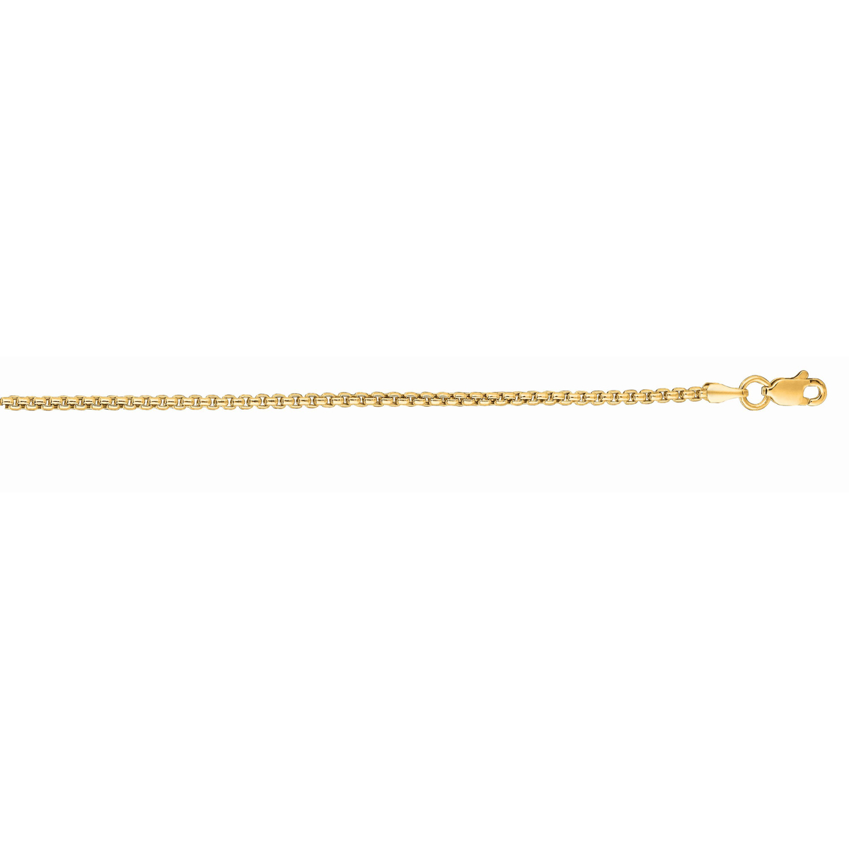 Royal Chain 14 Karat Yellow Gold 1.35mm Round Box Link Chain