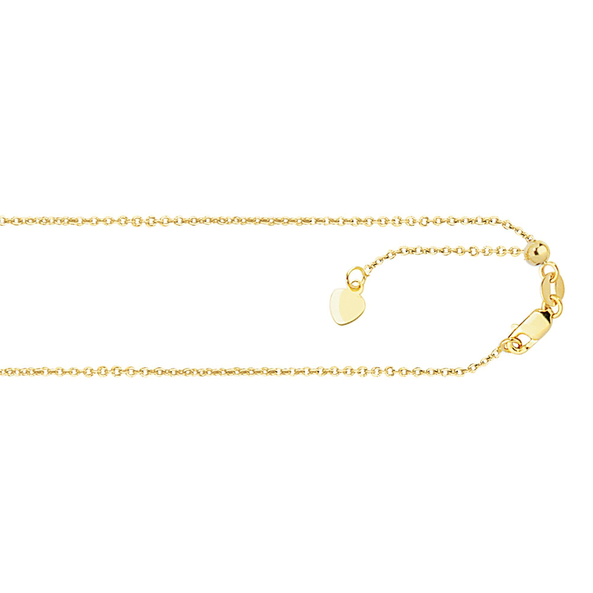 Royal Chain 14 Karat Yellow Gold .9mm Oval Link Chain Necklace