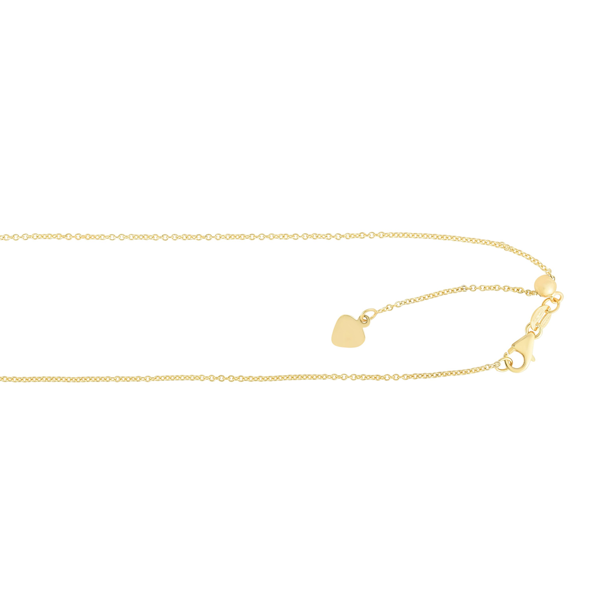 Royal Chain 14 Karat Yellow Gold 1mm Cable Chain