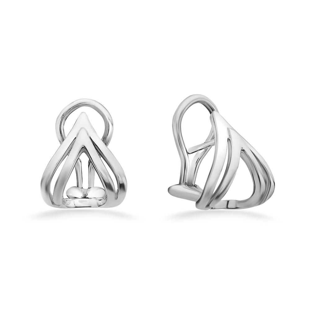 Charles Krypell Sterling Silver Double V Stud Earrings