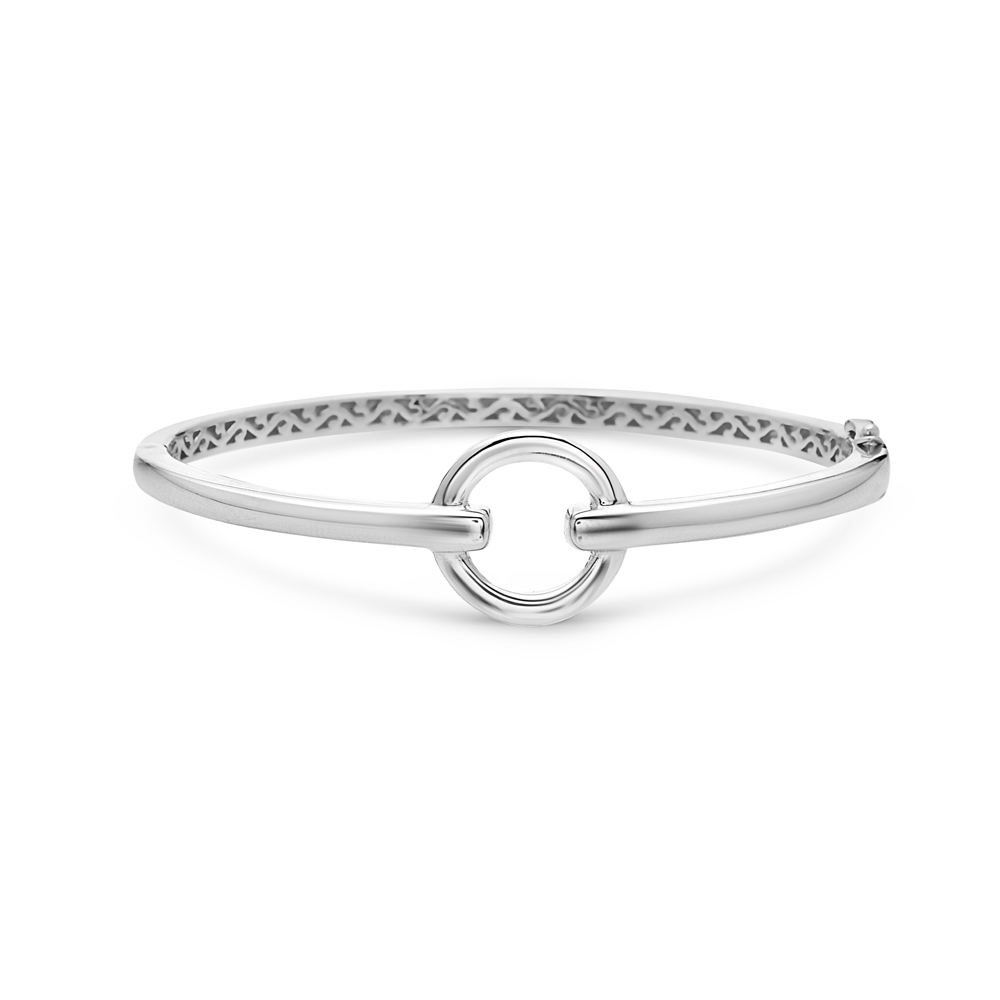 Charles Krypell Sterling Silver Spear Circular Hinged Bracelet