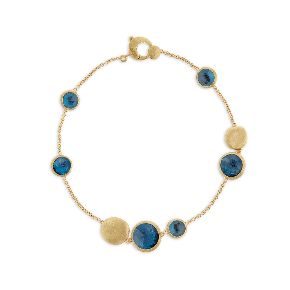 Marco Bicego 18 Karat Yellow Gold Jaipur Bracelet with Lapis