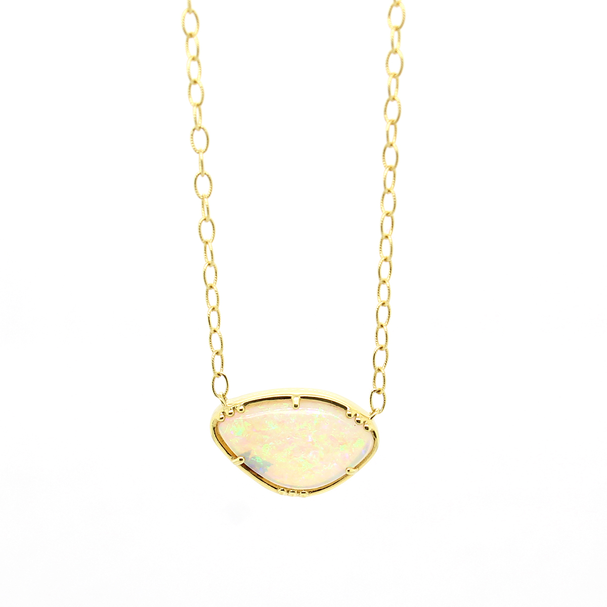 Lauren K 18 Karat Yellow Gold Opal Hope Necklace