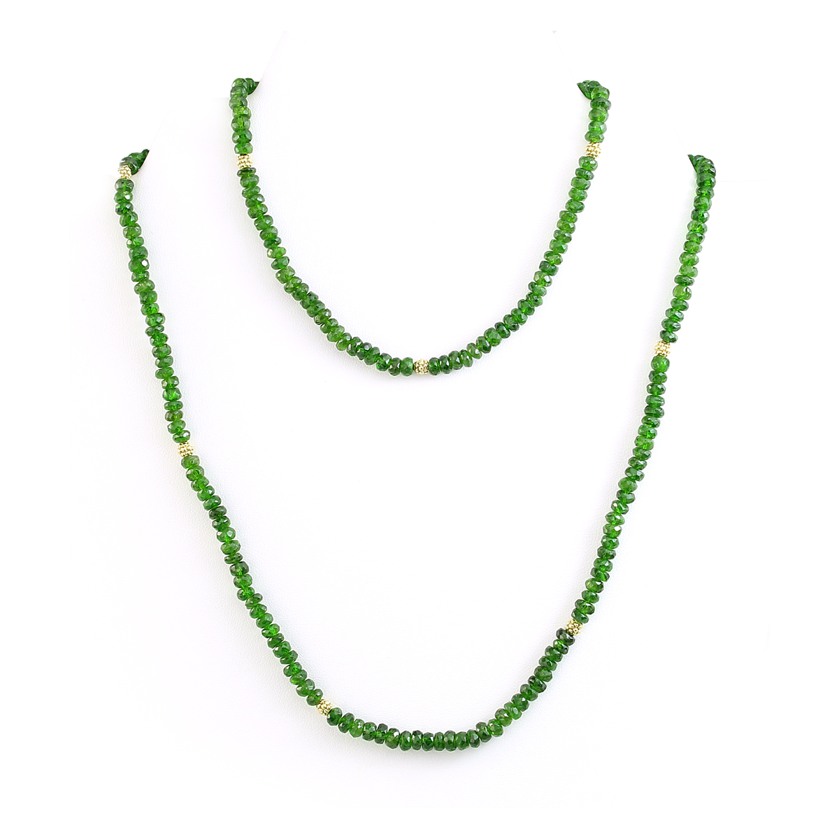 Lauren K 18 Karat Yellow Gold Chromediopside Bead Necklace