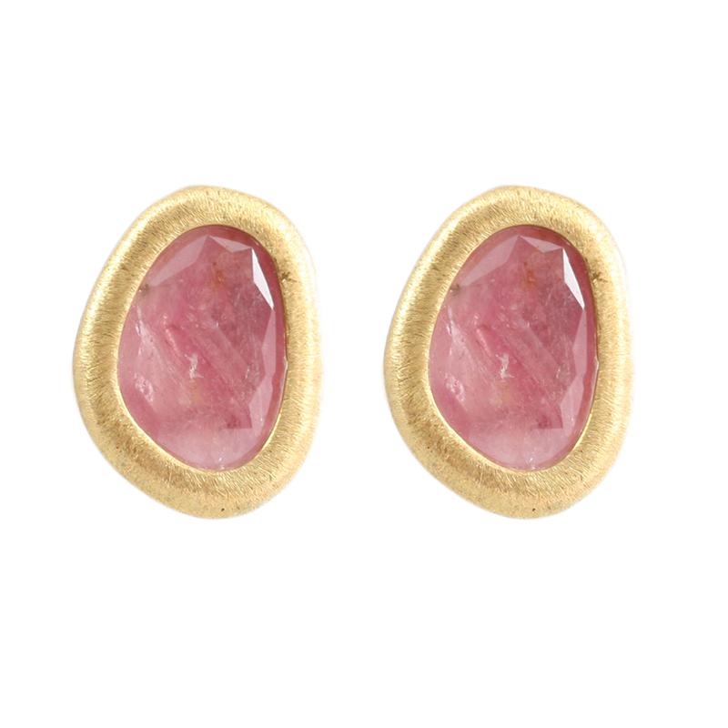 Yvel 18 Karat Yellow Gold Natural Sapphire Clip earrings