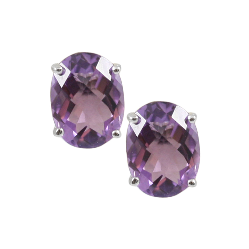 Sterling Silver Amethyst Earrings.