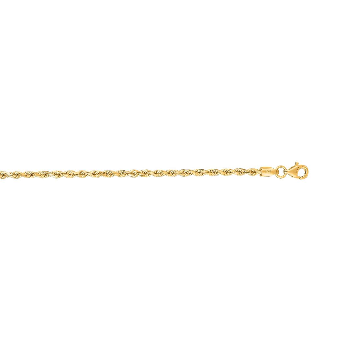 Royal Chain 14 Karat Yellow Gold 2.5mm Diamond Cut Rope Chain
